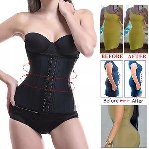 9 steel boning latex waist trainer